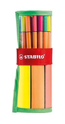 Stabilo Fineliner - Paquete de 88 rotuladores de colores de punta fina