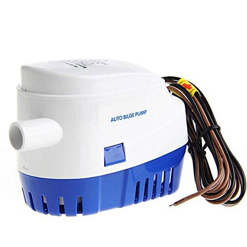 Nuzamas, automatische Tauchpumpe, 12 V, 4165 L/H (1100 GPH), für Wohnmobil, Camping, Boote, kleine Schwimmbecken und Brunnen