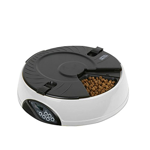 Automatic Pet Feeder, PAWSFIESTA Automatic Dog & Cat Feeder with Programmable Timer and Voice Recorder Dogs & Cats Timer Food