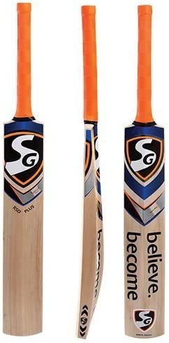 SG RSD Plus Kashmir Willow Cricket Bat Size 6 1200gm Suitable for Leather Ball Tennis Ball with product image