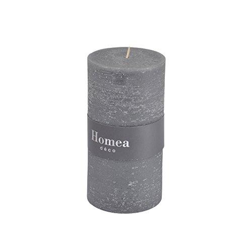 homea 6bpc020gf Kerze Zylindrische Paraffin anthrazit 6,8x 6,8x 13cm