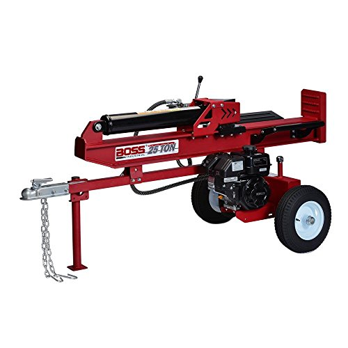Find Discount Boss Industrial WD25T Gas Boss 25 Ton Electric Log Splitter, Dark Red