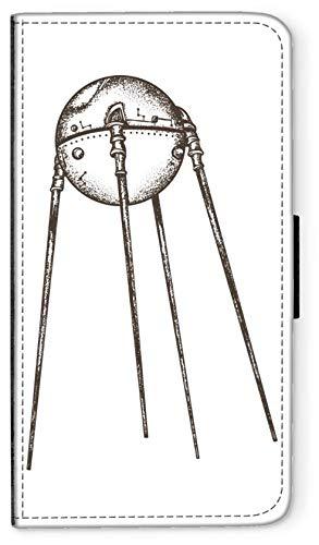 blitzversand Flip Case Sputnik Laika Russland kompatibel für Samsung Galaxy J7 2017 // J7 PRO Sputnik Trabant Handy Hülle Leder Tasche Klapphülle Brieftasche Etui rund um Schutz Wallet M5