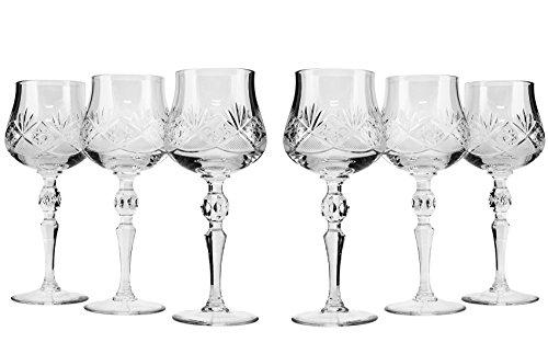 Victoria Bella tm7841, 8oz. Copas de vino de cristal hecho a mano...