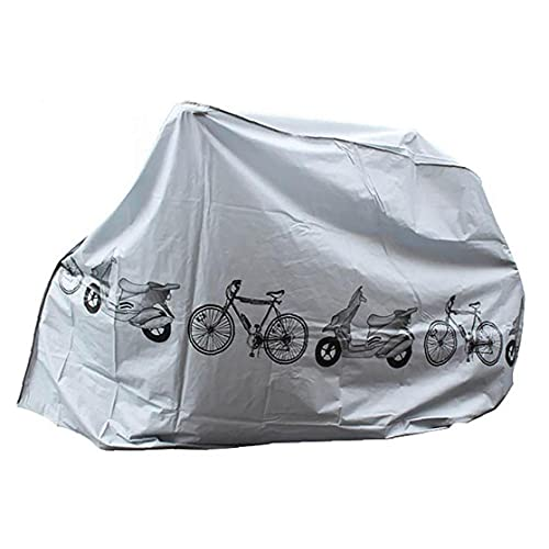 fedsjuihyg Accesorios para Bicicletas Herramienta Bicicletas Guardapolvos Lluvia Protección UV Impermeable Escudo de Bicicletas Cubierta Exterior Gris