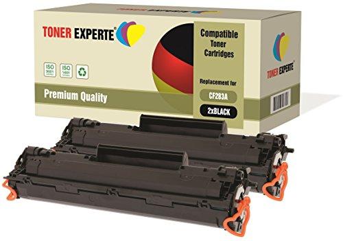 Pack de 2 TONER EXPERTE® Compatibles CF283A 83A Cartuchos de Tóner Láser para HP Laserjet Pro MFP M125nw, M126a, M126nw, M127fn, M127fw, M128fn, M128fw, M225dn, M225dw, M201dw, M201n, M202dw, M202n