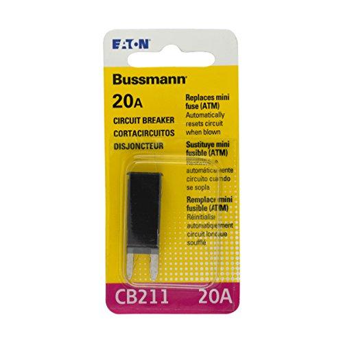 Bussmann (BP/CB211-20-RP) ATM 20 Amp Type-I Mini Circuit Breaker