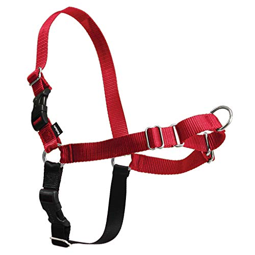PetSafe Easy Walk Dog Harness, Red/Black, Large, EWH-HC-L-RED