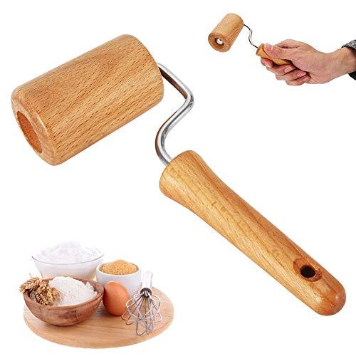 Teigroller zum Backen CHEPL Holz Teigroller Holz Pasta Nudelholz für Quadratische Formen und Backbleche Zylindrische Form Backzubehör