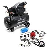 Compresor 50L con set 13 herramientas aire comprimido Hinchador neumáticos Pistola pintar Rociadora
