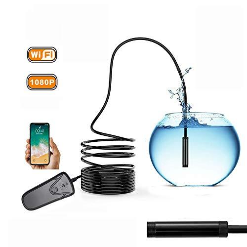 Cámara de Inspección Endoscópica Inalámbrica Endoscopio WiFi Boroscopio USB 1080P Impermeable IP67...
