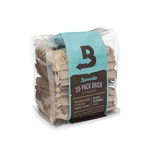 Boveda for Herbal Storage | 62% RH 2-Way Humidity Control | Size 67 Protects Up to 1 Pound (450 Grams) Flower | Prevent Terpene Loss Over Drying and Molding | 20-Count Reclosable Bag