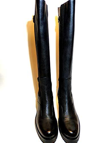Santoni, Damen Stiefel & Stiefeletten Schwarz Schwarz, Schwarz - Schwarz - Größe: 40 EU