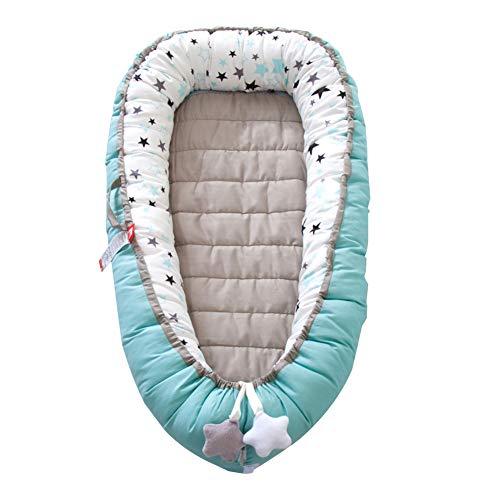 Miada - Tumbona multifuncional para recién nacidos, suave y transpirable, de espuma de algodón hipoalergénica, con colchones reemplazables, portátil, para dormitorio, descanso y viajes (Multi-3)