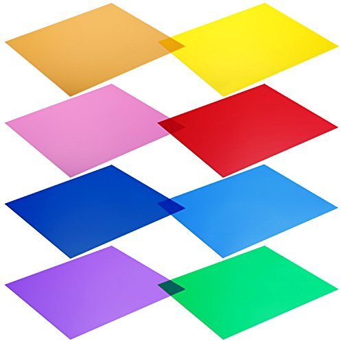 Neewer - Kit de 8 filtros de Colores para Luces de Estudio (12 x 12