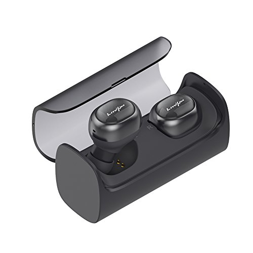 True Wireless Earbuds, LiteXim TW-08 Bluetooth 4.1 Cordless Stereo In-Ear Headphones, Cable-free Earphones with Mic(Dark Gray)