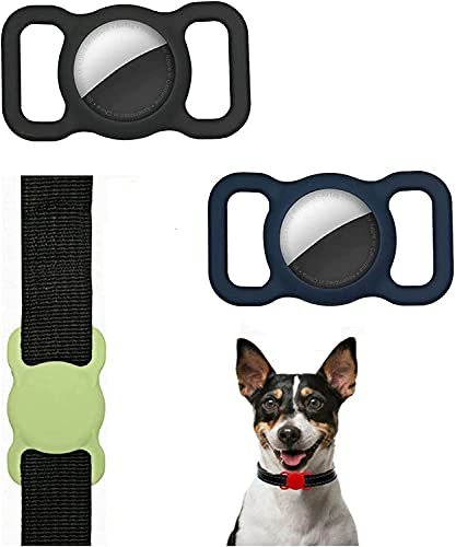 Pet Silicone Protective Case For Apple Airtag Portable Silicone Bluetooth Locator Pet Collar Protector Tracker Cover Case,regulierbare Gps Tracking Dog Cat Accessories Anti-lost Locator Airtags