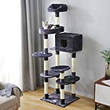 PURLOVE Cat Tree Climbing Tower, Kitten Tree Tower Activity Centre with Sisal Scratching