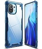 Ringke Fusion-X Compatible con Funda Xiaomi Mi 11 (6,81 Pulgadas), Transparente Rigida Carcasa Parachoque TPU Resistente Impactos Funda Azul - Space Blue