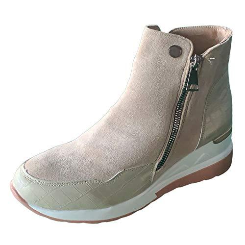 Zapatos Mujer Invierno Tacon Medio Plataforma Comodos 2020 Botas Mujer de Vestir Invierno Rebajas Deportivas Elegantes