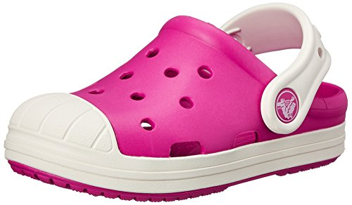 crocs Bump It Clog (Toddler/Little Kid/Big Kid), Candy Pink/Oyster, 13 M US Little Kid