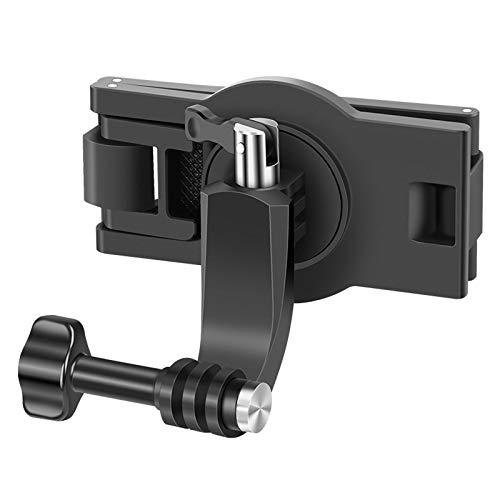 nengzhuzu Suporte de clipe para mochila rotativa de 360 graus para Go Pro Hero 9 8 7, acessório preto
