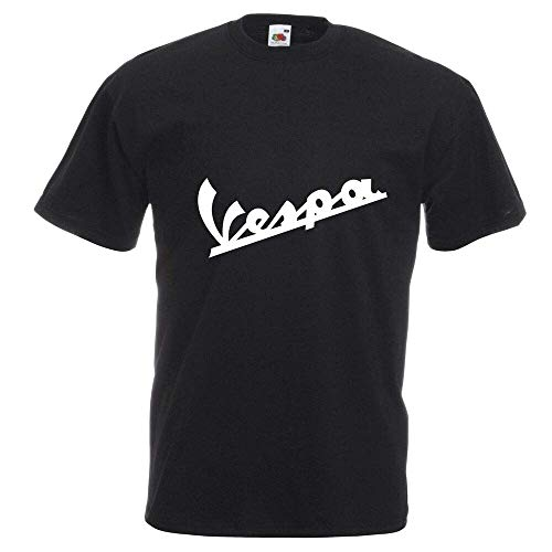 Vespa T-Shirt Biker Motorcycle Scooter Rider Various Sizes & Colours BlackL