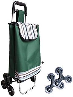 comprar comparacion TAVALAX - Carrito de la compra plegable con ruedas de goma y 6 ruedas y carrito de escalada de alimentos y resistente al agua
