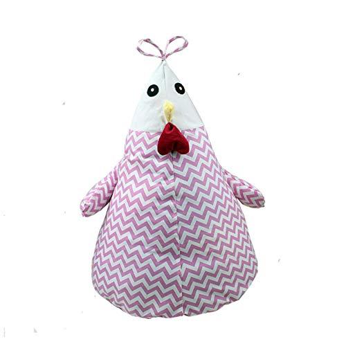Durevole Comoda Sedia Bean Bag Pollo Creativo Bagagli ripiene Fumetto Bagagli Bean Bag Chair Kids Toy archiviazione Portatile Bag Custodia Morbida Clothes Organizer Strumento (Color : Pink)