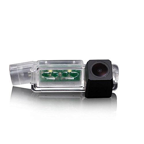 Navinio Colore telecamera di retrovisione con linee di griglia come luce targa, sensore di parcheggio Nero per VW Golf5/V/Golf7 MK7/VII/Passat CC/Skoda Scirocco/Seat Leon/Seat Leon 5F/Lamando