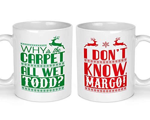 Todd and Margo Christmas Mugs | National Lampoon Christmas | Funny Christmas Mugs Set | Ugly Sweater | Funny Mug Gift Idea