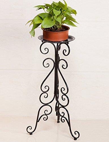 XIAOLIN- Style européen fer fleur étagère unique couche multi - fonctionnel fleur fleurie étagère pour salle de séjour balcon cadre bonsai -Cadre de finition de fleurs (Couleur : 1)