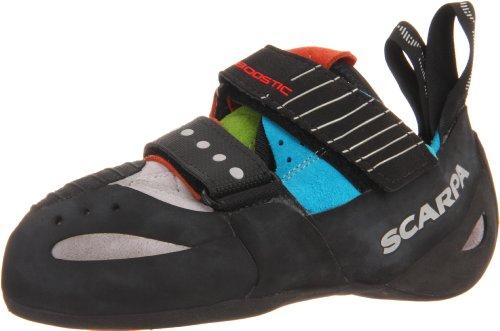 Scarpa Boostic Climbing Shoe,Cyan/Spring,35.5 EU/Men's 4 M US/Women's 5 M US