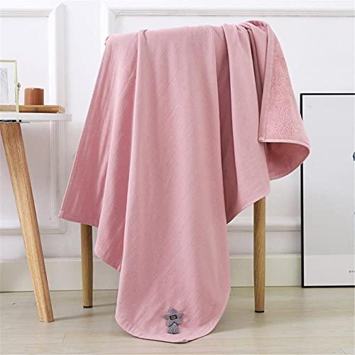 Alrededor de 70x140cm Verde Rosa Khaki bambú Fibra Creativa Pintura Simple Moda fácil Limpiar Toalla de baño Adulto-C1 para Hotel y SPA máxima suavidad y Altamente Absorbente