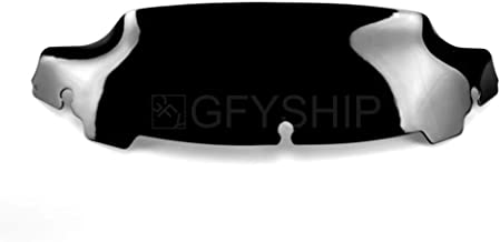 For Harley Touring Ultra Limited 2014 to 2018 2019 Ultra Limited Low 2015-2019 CVO Limited 14-19 FLHTK FLHTKSE Motorcycle Wind Splitter 5 in. Windshield With Illuminated Trim (Dark Smoke)