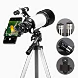 SOLOMARK 70 mm Apeture Travel Scope 400 mm AZ Mount-16x-120x Magnificación-Buen telescopi...