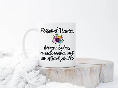 DKISEE World'S Best Trainer Gift For Trainer Personal Trainer Coffee Mug Personal Trainer Gifts Weightlifting Workout Gift Fitness Gift Workout Gift 11oz