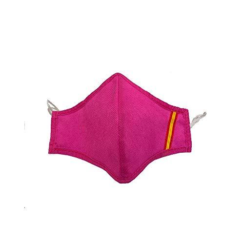 ZiNGS Mascarilla Bandera de España higiénica, homologada, lavable y reutilizable color fucsia