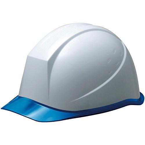 ミドリ安全 ヘルメット 作業用 PC製 クリアバイザー SC11PCL RA KP付 ホワイト/ブルー