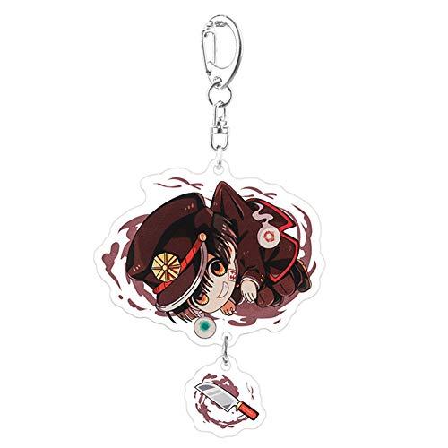 Elibeauty lunanana Toilet-Bound Hanako-kun Schlüsselanhänger, Anime Cartoon Schlüsselringe Schlüsselbund Anhänger Verzierung, Stil 05(H09)