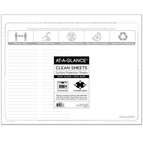 AT-A-GLANCE Einweg-Reinigungsblätter, 55,9 x 43,2 cm, Oberflächenschutz, für zu Hause oder im Büro, 25 Stück (SK2628)