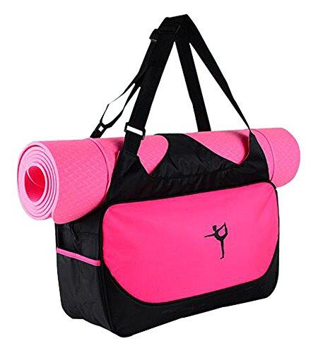 BLANCHO BEDDING Multifonction Yoga Mat Sac fourre-Tout: Léger, Durable, Respirante Pouch [Rouge] #01