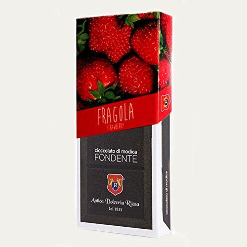 Cioccolato Antica Dolceria Rizza Modica - Cioccolato di Modica alla Fragola