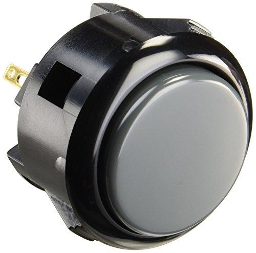 三和電子 ハメ込み式押しボタン30φ 黒枠グレー OBSF-30-K-H