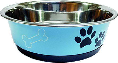 Mantovani Pet Diffusion Bol Acier avec Ring Bleue 21 cm – 250 g