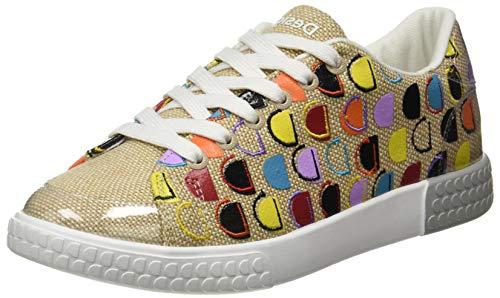 Desigual Shoes_Comet_MONOGR, Sneakers Woman Donna, Beige Crude, 37 EU