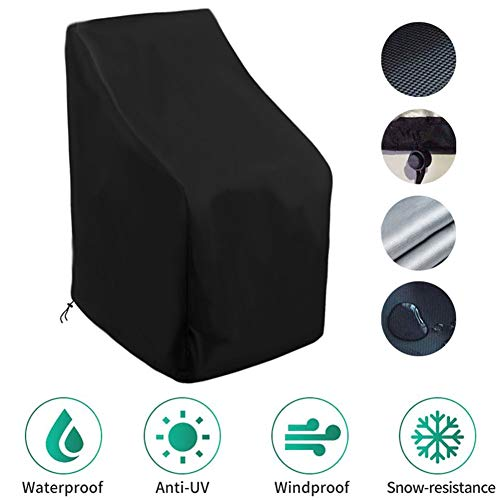 HYCZW Tuin Meubelhoes, Patio Stacking Stoel Cover met Air Vent Waterdichte Winddicht Anti-UV, Zware Duty Rip Proof 210D Oxford Stof Reclining Tuinstoel Cover