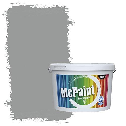 McPaint Bunte Wandfarbe matt für Innen Delphingrau 5 Liter - Weitere Graue Farbtöne Erhältlich - Weitere Größen Verfügbar