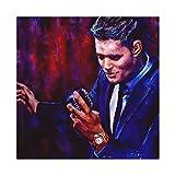 Sänger Michael Buble Star Poster 23 Leinwand Poster
