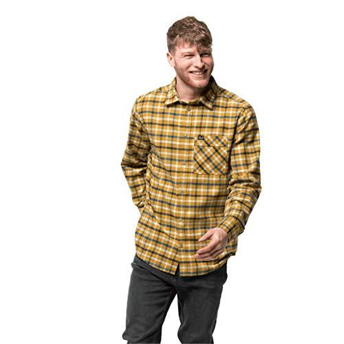 Jack Wolfskin Herren Fraser Island Hemd, golden Amber Checks, XL
